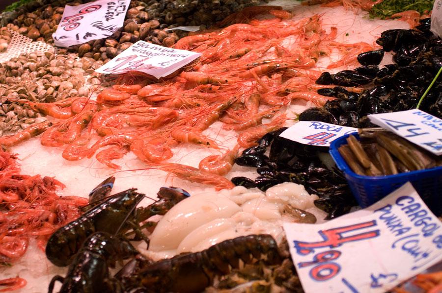 Креветки от 6 до 11 евро за кг