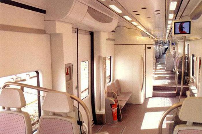 Вагон пригородного поезда