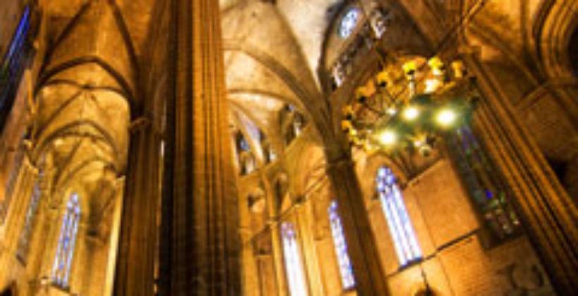 Площадь Каталонии и Кафедральный собор в Барселоне