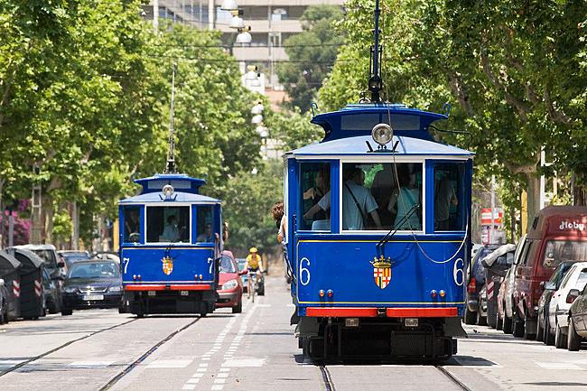 трамвай Tramvia Blau