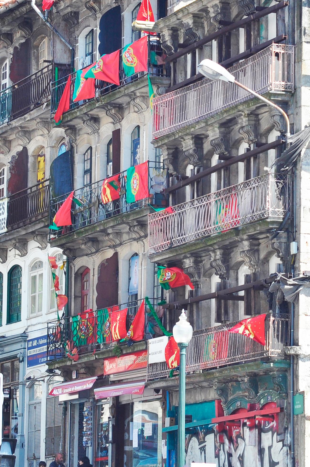 Самый патриотичный дом Португалии :-)