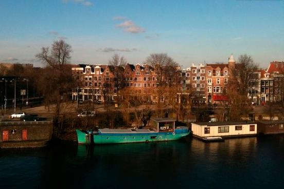 Вид из наших апартаментов в Амстердаме