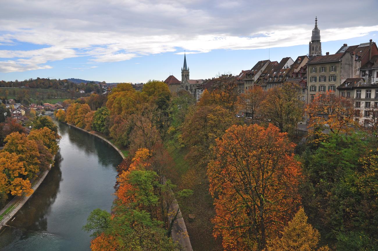 """А в """"немецкой"""" Швейцарии тоже во всю идет """"золотая"""" осень"""