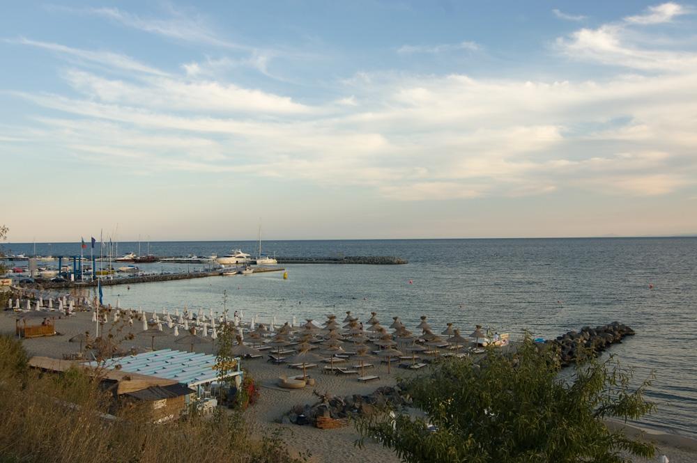 Пляж в Святом Власе на закате