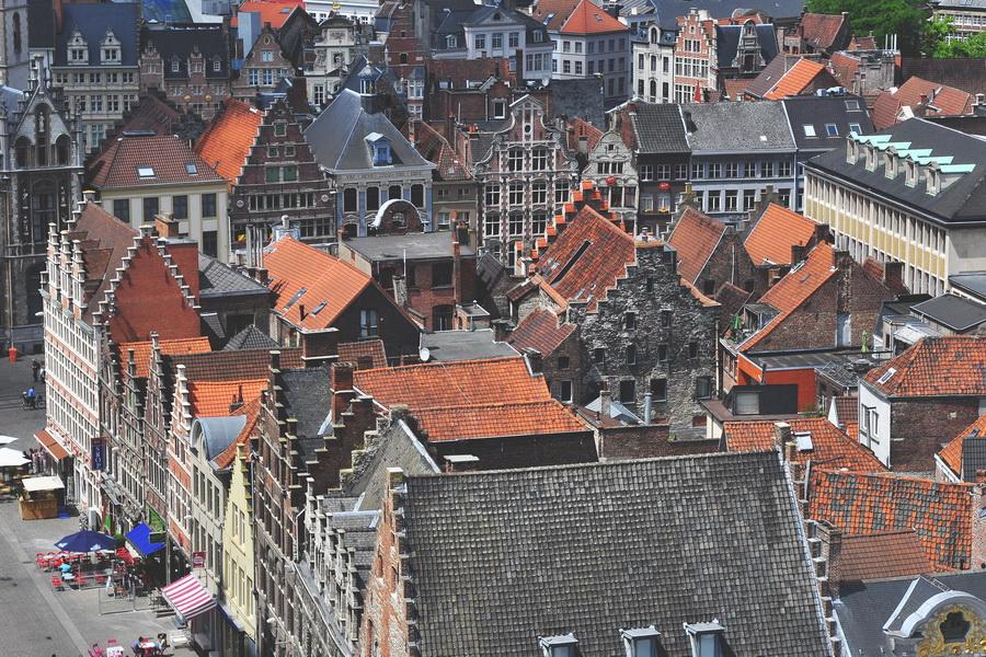Вид на Гент с башни Белфорт