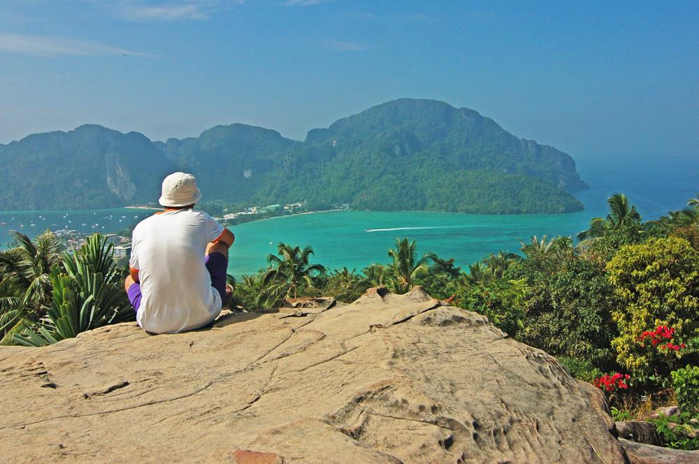 вид со смотровой на о. Пи-пи. Таиланд