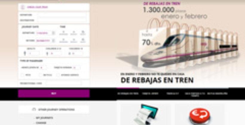 Покупка билета на сайте железных дорог Испании