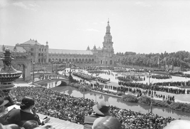 Площадь Севильи в 1929 году