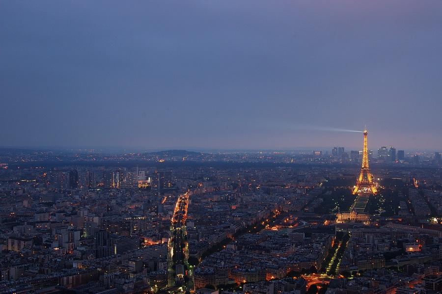 Вид с башни Монпарнас на Париж