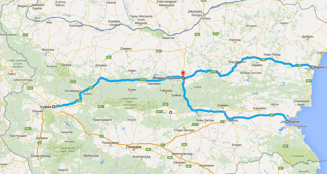 Велико Тырново на карте