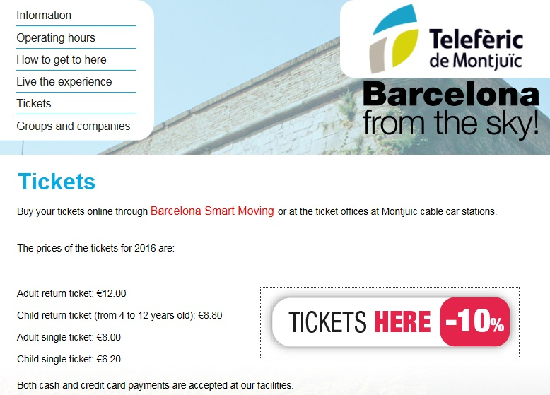 prices-montjuic-cable-car